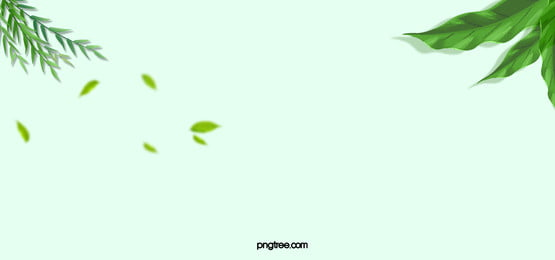 small fresh green leaves simple green taobao banner, Green, Leaves, Simple Background image