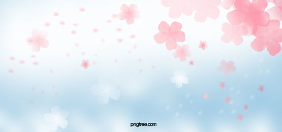 summer pink blue fresh poster banner background, Summer, Flowers, Pink Background image