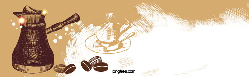coffee vector banner material, Coffee, Cafe, Banner Background image
