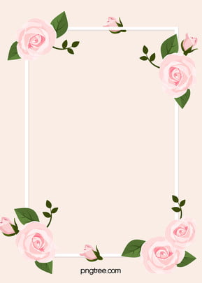 pink romantic rose valentines day h5 background material , Rose, Border, Pink Background image