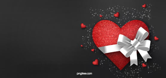 valentines day tanabata black background, Red Heart, Love, Gift Background image