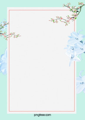 Small Fresh Flower Art Blue Psd Layered Advertising Background, Flowers, Art, Wireframe, Background image