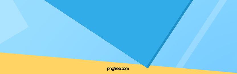नीले पीले ज्यामितीय त्रिकोण विभाजित बैनर, नीले, पीले, ज्यामिति पृष्ठभूमि छवि