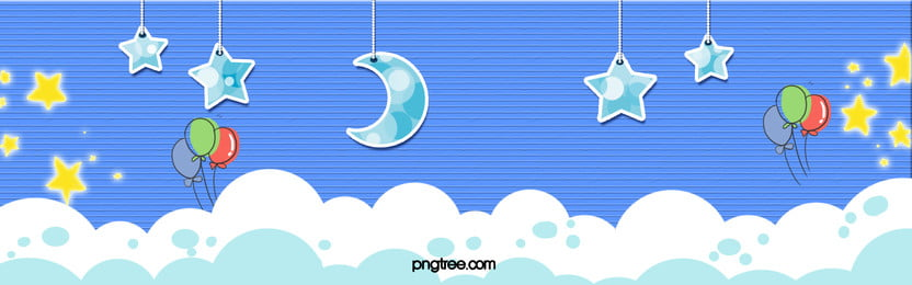 秋の学生の入学漫画の靑空と白雲バナーポスター 秋 夏休み 学校が始まる 背景画像