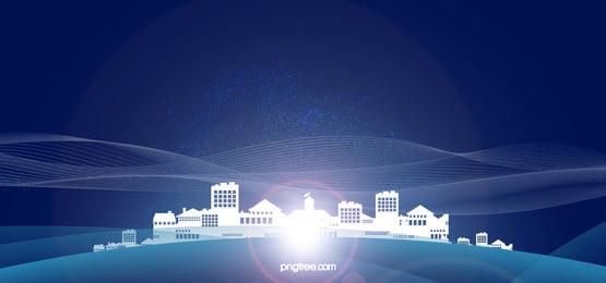 विज्ञान और प्रौद्योगिकी के व्यापार बैठक के नीले बैनर, प्रौद्योगिकी, व्यापार, वित्तीय पृष्ठभूमि छवि