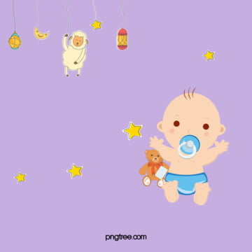 प्यारा माँ और बच्चे के उत्पादों बैनर , सुंदर, कार्टून, एन्जिल बेबी पृष्ठभूमि छवि