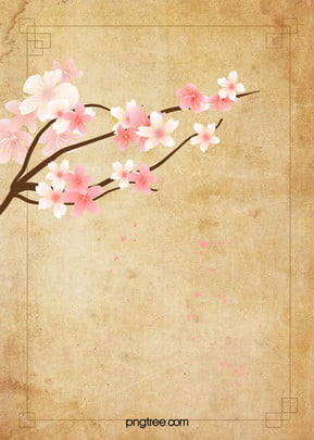 chinese wind  literature and art  peach blossom background, Retro, Chinese, Style Background image