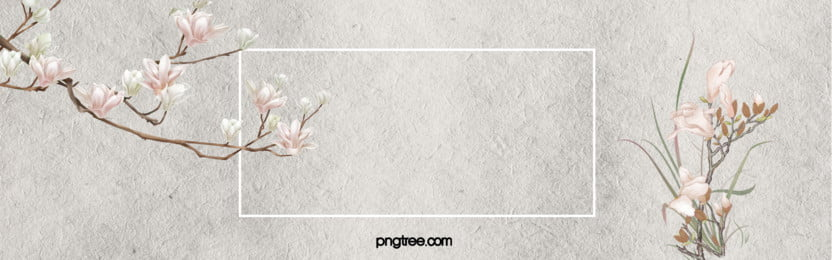 簡約秋季花卉banner, 扁平, 幾何, 活動 背景圖片