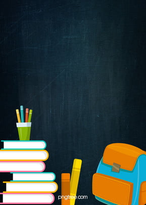 Dark Blackboard, Book, Penholder, Schoolbag, School Season, Dark, Blackboard, Book, Background image