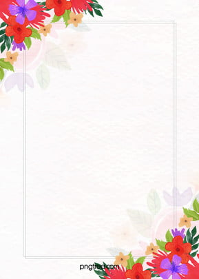 floral flor frame aquarela background , Arte, Planta, Design Imagem de fundo