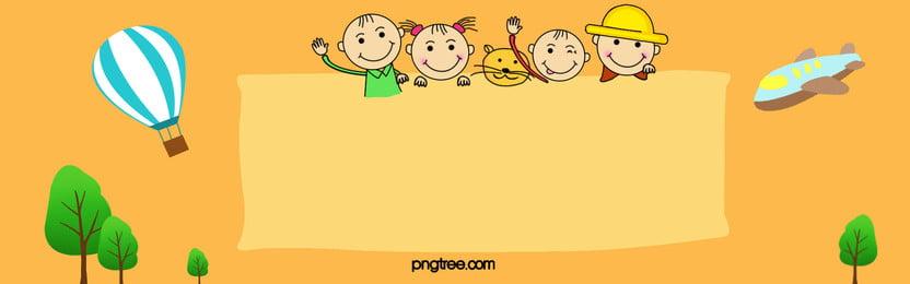 mùa khai trường nền hoạt hình quảng cáo bằng tay, Mùa Khai Trường, Tháng Chín., Nhà Trẻ Ảnh nền