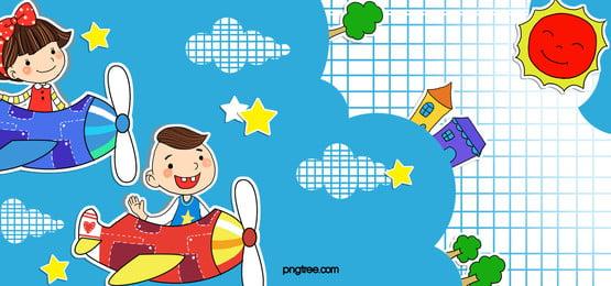 sekolah kartun geometri biru banner, Sekolah Membuka, Sekolah Musim, Peralatan Baru Untuk Pembukaan Sekolah imej latar belakang