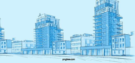 cidade arquitetura edifício arranha   céus background, Moderna, Construção, Escritório Imagem de fundo
