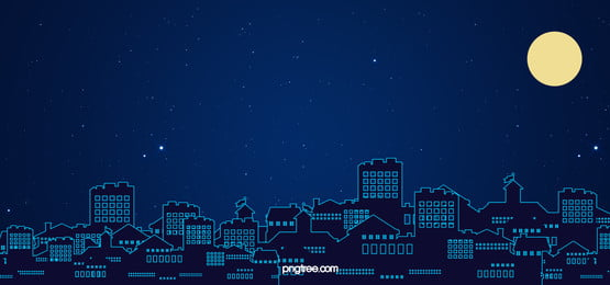 नीले  व्यापार  शहर  सिल्हूट  मध्य शरद ऋतु महोत्सव के बैनर, नीले, व्यापार, शहर के सिल्हूट पृष्ठभूमि छवि