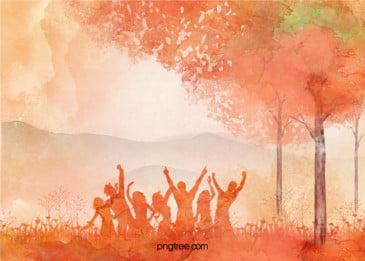 गर्म नारंगी पानी के रंग का छात्र संघ हस्ताक्षर दीवार, गर्म, नारंगी, लाल रंग पृष्ठभूमि छवि