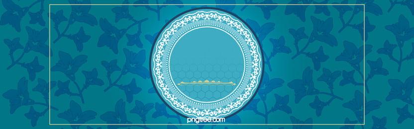 青花瓷复古风banner, नीले और सफेद चीनी मिट्टी के बरतन, विंटेज शैली, 复古banner पृष्ठभूमि छवि