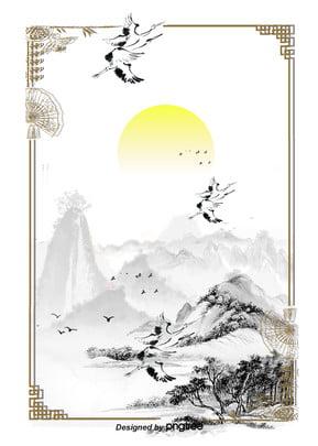 eses caja de tinta de color blanco negro , Vientos, Antecedentes, Agua De Montaña Imagen de fondo