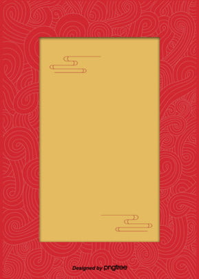 Red Background, Traditional Patterns Of The Elements, Flowers, Yellow, Background, Background image