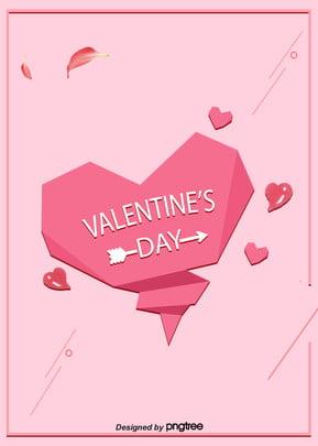 핑크 하트 발렌타인데이 배경 모판 , 핑크, 하트, 꽃잎 배경 이미지