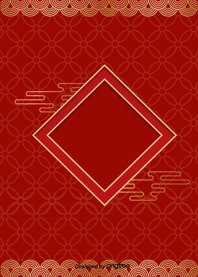빨간색 중국 프레임 동전 새해 포스터 ,동전,프레임,무늬 배경 이미지