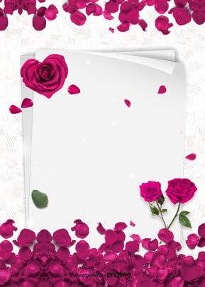 Brief Background Of Red Rose Valentines Day, Letter Paper, Valentines Day, Rose, Background image