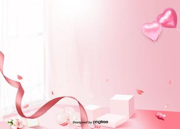गुलाबी कल्पना बनावट सुंदर प्यार वेलेंटाइन  s दिन पृष्ठभूमि, रिबन, वाणिज्यिक गतिविधियों, व्यापार पृष्ठभूमि पृष्ठभूमि छवि