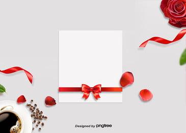 ホワイト・ラブレターのバレンタインの背景 リボン 商業活動 ビジネス背景 背景画像