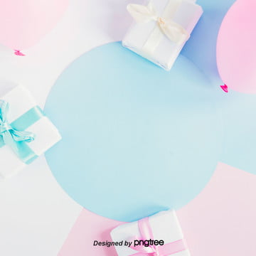 彩色禮物清新淘寶情人節背景 , 小清新, 情人節, 浪漫 背景圖片
