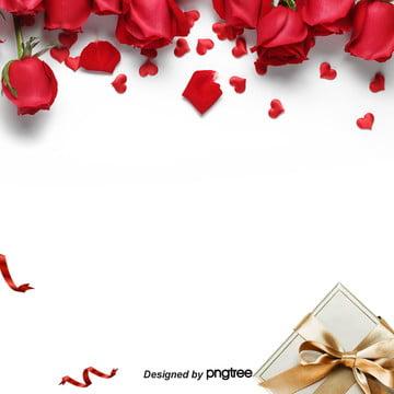 hadiah idea meningkat hari valentine latar belakang , Hari Valentine, Hadiah Hari Valentine, Rose imej latar belakang