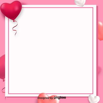 sáng tạo bong bóng hồng tình yêu valentine viền , Ngày Lễ Tình Nhân, Bong Bóng., Lãng Mạn Ảnh nền