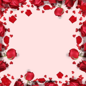 粉色浪漫玫瑰花瓣背景 , 情人節, 浪漫情人節, 玫瑰花 背景圖片
