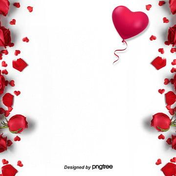ros merah jambu mudah hari valentine latar belakang , Hari Valentine, Belon, Cinta imej latar belakang