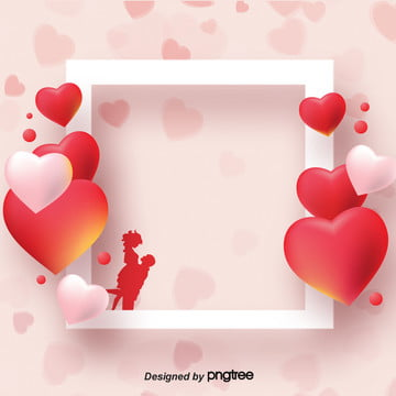 three dimensional love border on valentines day , Colour, Valentines Day, Valentines Day Background Background image