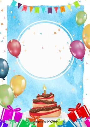 रंग कार्टून हाथ खींचा खुश जन्मदिन की पार्टी के पोस्टर पृष्ठभूमि , कार्टून, सुंदर, गौरेया पृष्ठभूमि छवि