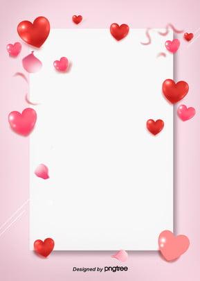 Dia DOS namorados Amor de pétalas estereoscópica cartaz ilustração vetorial Fundo envelope FITA Envelope Fitas O Imagem Do Plano De Fundo