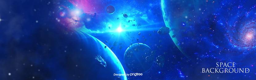 नीले रंग की सरल व्यापार आकाशगंगा पृष्ठभूमि , ब्रह्मांड, सितारों, ग्रह पृष्ठभूमि छवि