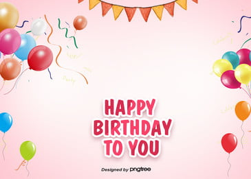 happy birthday background for pink simple party, Lovely, Coloured Ribbon, Flag Background image