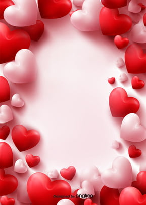 red stereo border love valentines day background , Heart, Valentines Day, Fresh Background image
