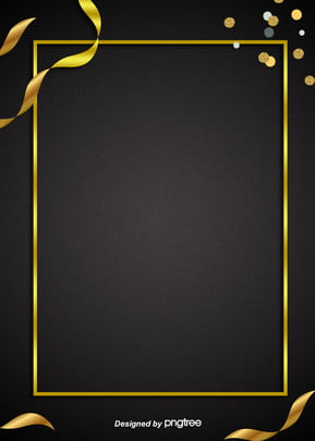 simple atmospheric black golden frame commercial advertising e commerce background , Business, Extravagant Gold, Advertising Background Background image
