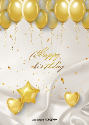 The Golden Balloon Background for the Luxurious Birthday Party , Silk, Gorgeous, Coloured Ribbon Background image