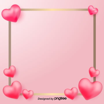 ngày lễ tình nhân quan điểm yêu tố poster vector vẽ minh họa cho nền vàng hồng , 3 Chiều, Nguyên Tố, Ngày Lễ Tình Nhân Ảnh nền