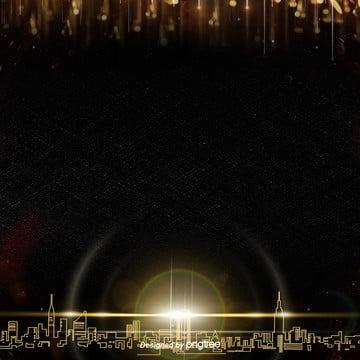 黑色奢金金色光斑邊框背景設計 , 光, 光斑, 奢金 背景圖片