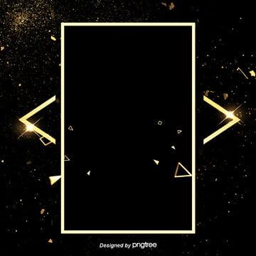luxo ouro preto ouro spot border background design , A Luz, Spot, Luxo Ouro Imagem de fundo