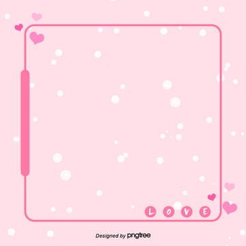 粉色愛心邊框效果背景設計 , 愛心, 粉色, 背景 背景圖片