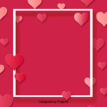 pink cinta rangka hari valentine bentuk latar belakang , Indah, Hari Valentine, Fantasi imej latar belakang