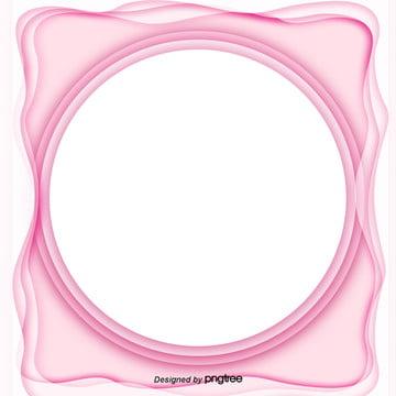 粉色剪紙效果邊框效果背景設計 , 3d, 剪紙, 剪紙風格 背景圖片