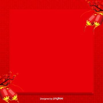 लाल लालटेन फू सीमा पृष्ठभूमि डिजाइन , आड़ू, बेर, लालटेन पृष्ठभूमि छवि