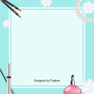 cosméticos de fundo azul , A Estética, Maquiagem, Beleza Maquiagem Imagem de fundo
