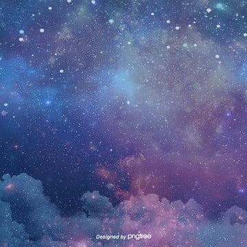 thiết kế nền trời xanh trong đêm , Đêm, Những Ngôi Sao, Ngân Hà Ảnh nền