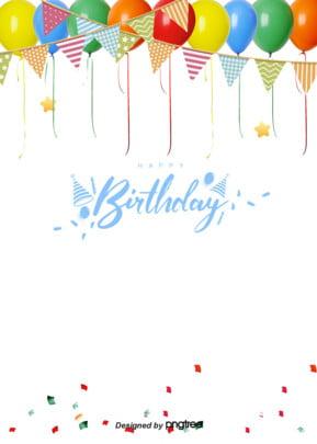 白写実風風船雲誕生日おめでとうございます背景 , 実を書く, 多彩, 大気 背景画像